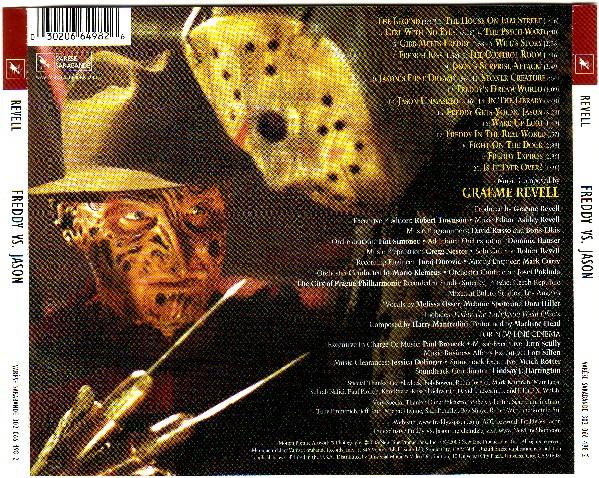 """обложка саундтрека """"Фредди против Джейсона"""""""
