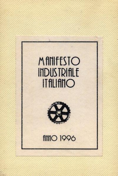 Manifesto Industriale Italiano обложка кассетного сборника