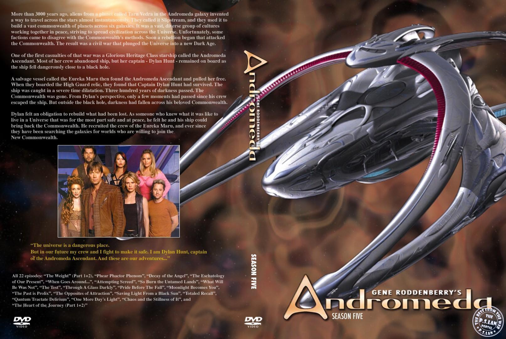 """обложка пятого сезона """"Андромеды"""""""