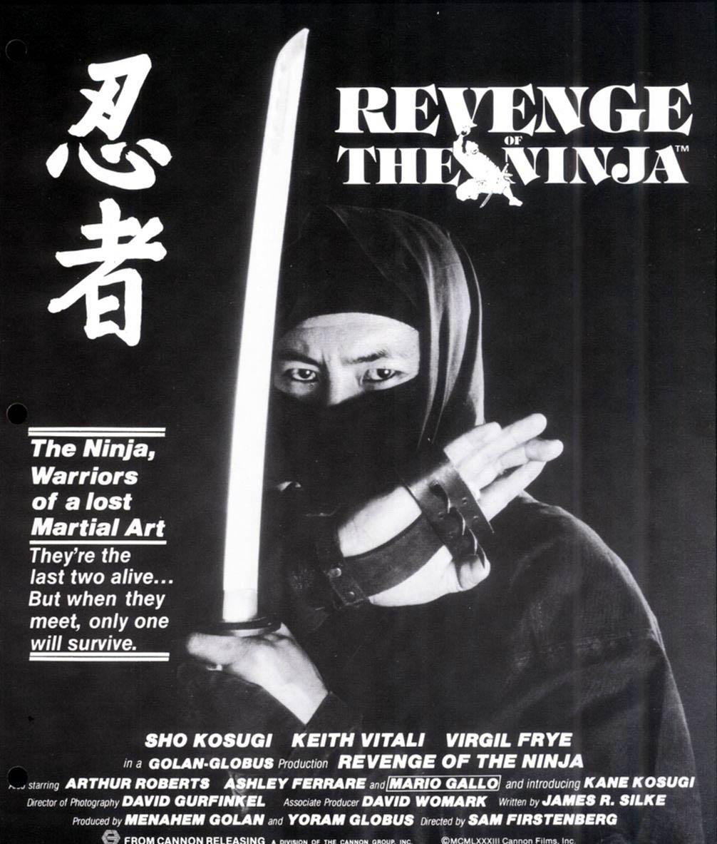 Revenge of the ninja оригинальный постер