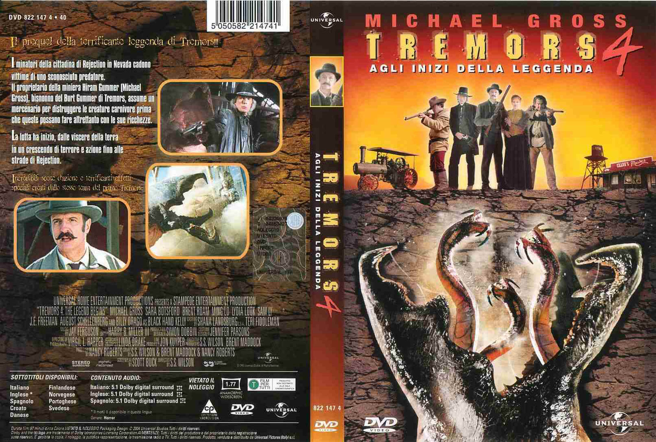 Tremors 4 The Legend Begins (2004) обложка dvd